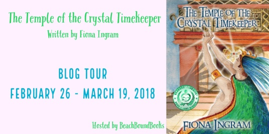 Temple of the crystal timekeeper blog tour banner