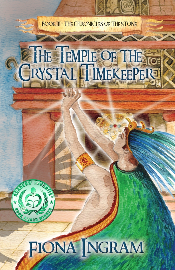 Temple of the crystal timekeeper ingramspark cover with medal